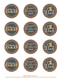 fathers day cupcake toppers printable party kits