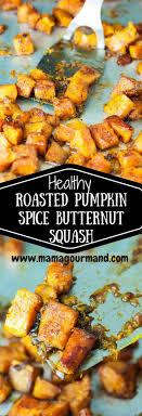 roasted pumpkin spice butternut squash mamagourmand