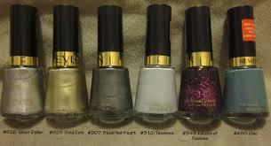 review revlon nail polishes medley of randomness
