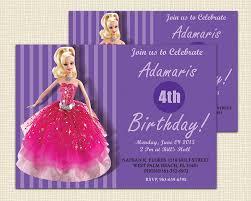 barbie invitation template barbie birthday invitation card free