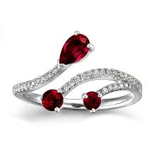 ruby engagement ring ruby and engagement ring on 10k white gold jeenjewels