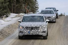less disguised 2018 volkswagen touareg spied during winter testing