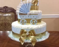 elegant diaper cake boy baby shower gift or centerpiece baby