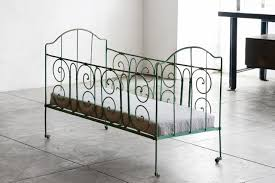 Vintage Metal Bed Frame Sold Antique French Wrought Iron Baby Crib Rehab Vintage Interiors