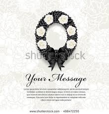 funeral ribbon funeral card circle black ribbon wreath stock photo photo vector