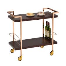 home decorating party companies design guild gold espresso birch wood rolling cart jay companies
