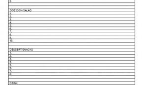 100 potluck dinner sign up sheet template yahtzee score