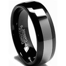 titanium tungsten rings images 8mm mens black tungsten carbide wedding engagement comfort band ring jpg