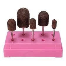 5pcs electric nail drill bits file polish cuticle manicure