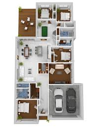 Small 4 Bedroom Floor Plans 50 Four U201c4 U201d Bedroom Apartment House Plans 3d Apartments And 3d