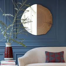 tree ring wall mirror elm