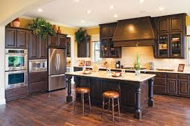 kitchen island with oven amazing rustic knotty alder kitchen cabinets features rectangle