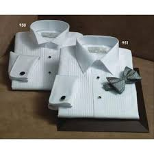 100 cotton laydown collar tuxedo shirt french cuffs