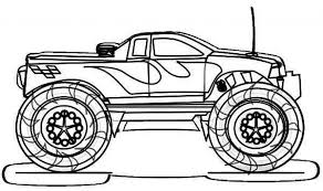 coloring pages cars trucks elegant monster