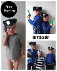 halloween police accessories printable police hat sewing pattern beatnik kids