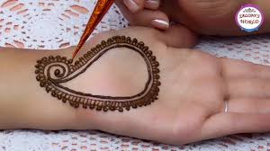 easy simple mehndi designs for hands step by step tutorial by