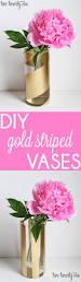 Striped Vase Diy Gold Striped Vases