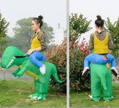 kids inflatable t rex dinosaur fancy dress unisex party costume