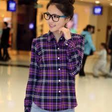 Plaids Popular Women Plaid Shirt Checks Buy Cheap Women Plaid Shirt
