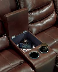 Microfiber Reclining Loveseat With Console Furniture Loveseat With Console To Make A High Style For Your