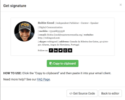 create your custom email signature for outlook and gmail