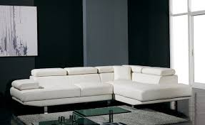 Modern Faux Leather Sofa Furniture Sleek All White L Shaped Modern Leather Sectional Sofa