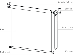 Replacement Brackets For Roller Blinds Bedroom Roller Blind Kit Shade Parts With Regard To Window