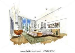 Bedroom Interior Design Sketches Interior Design Bedroom Sketches Interior Design Sketch Stock