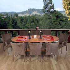 Patio Table Seats 8 Amazonia Renaissance 9 Piece Patio Dining Set Rennaissance Set