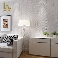 Striped Bedroom Wall by Aliexpress Com Buy Simple Solid Color Striped Textured Wallpaper