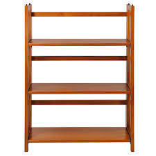 Container Store Bookshelves Amazon Com Casual Home 3 Shelf Folding Stackable Bookcase Honey