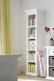 Narrow Bookcases Uk Bookshelf Narrow White Bookcase With Drawers Together With