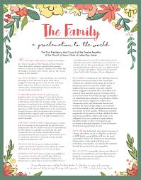 family proclamation pace paintings free printable of the family a