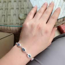 fashion evil eye bracelet images Turkish blue evil eye bracelet 925 sterling silver greek key mati jpg