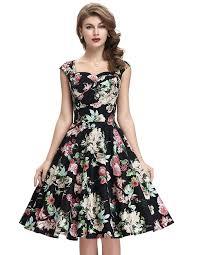 belle poque 50s style vintage dresses sweetheart neck bp105 multi