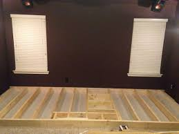 home theater risers diy i built a riser for my theater media room album on imgur