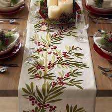 crate and barrel table runner crate barrel holly embroidered table runner bright green bright