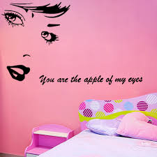 popular beautiful love quotes buy cheap beautiful love quotes lots beauty vinyl wall stickers you are the apple of my eye love quotes decals art mural