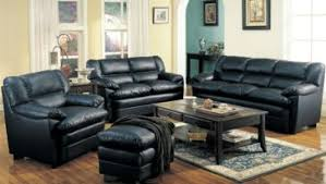 contemporary leather living room furniture with small carpet