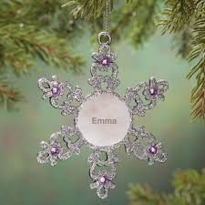 personalized birthstone snowflake pewter ornament kimball