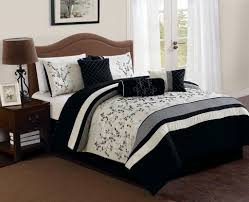 bedroom nice 7 piece silver gray queen bedding set and mirrored