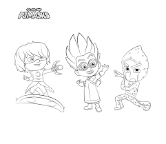pj masks coloring pages download print free