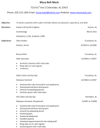 Hairdresser Resume Examples by Salon Resume Sample Free Resume Example And Writing Download