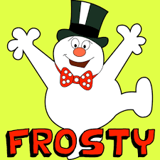 draw frosty snowman step step drawing tutorial