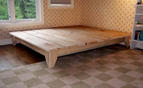Platform Bed Frame Plans Free by Bed Frames Diy Bed Frame Plans King Size Bed Frame With Storage