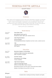Clerical Resume Sample by Front Desk Clerk Resume Samples Visualcv Resume Samples Database