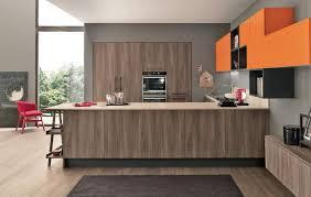 couleur cuisine moderne design interieur couleur cuisine modules muraux orange façade