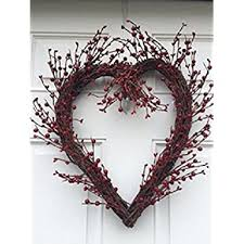heart wreath rustic twig berry heart wreath 20 inches pip