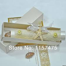 Scroll Wedding Cards Design With Price Online Get Cheap Scroll Invitations Aliexpress Com Alibaba Group