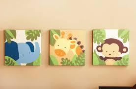 tableaux chambre bébé déco tableaux chambre bébé éléphant girafe singe tableau